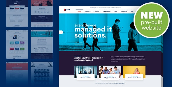 Nanosoft Nanosoft - WP Theme for IT Solutions and Services Company Nulled