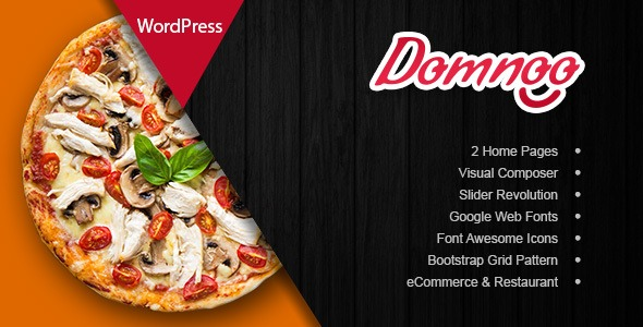 Domnoo Nulled - Pizza & Restaurant WordPress Theme