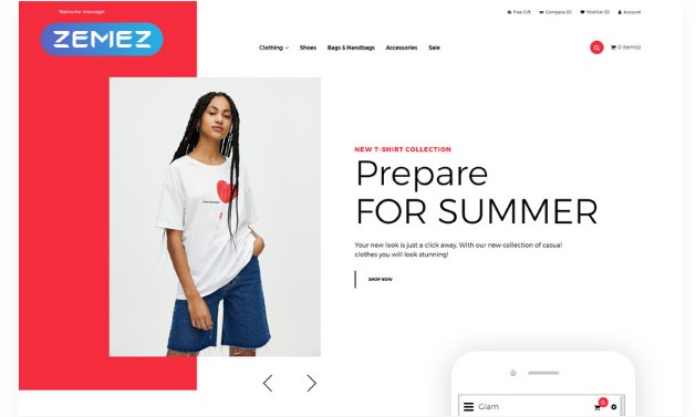 Glam – Fashion Store Creative OpenCart Template