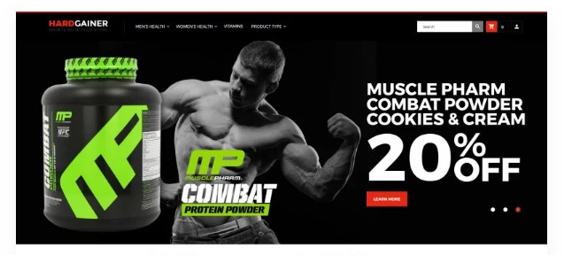 Hard Gainer – Sports Nutrition Store Responsive Magento Theme