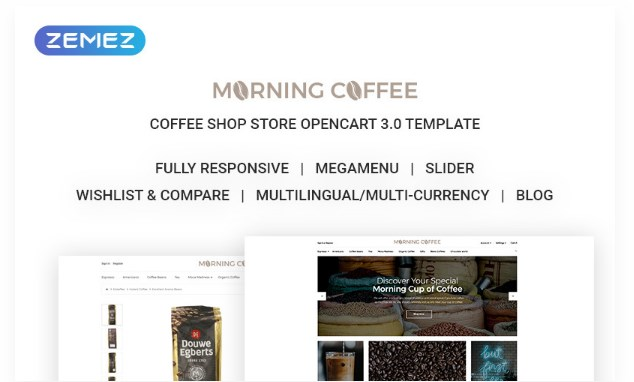 Morning Coffee – Powerful Online Coffee Shop OpenCart Template