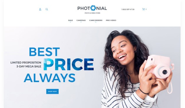 Photonial – Photo & Video Store Magento Theme
