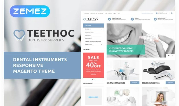 Teethoc – Dental Instruments Magento Theme