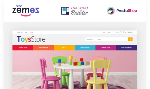 ToysStore – Kids Play Games Store Clean Bootstrap PrestaShop Theme
