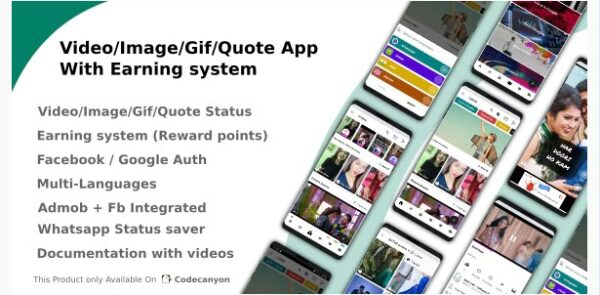 Video-Image-Gif-Quote App With Earning system (Reward points) Nulled Download