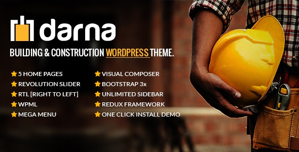 Darna-Building & Construction WordPress Theme Download Nulled
