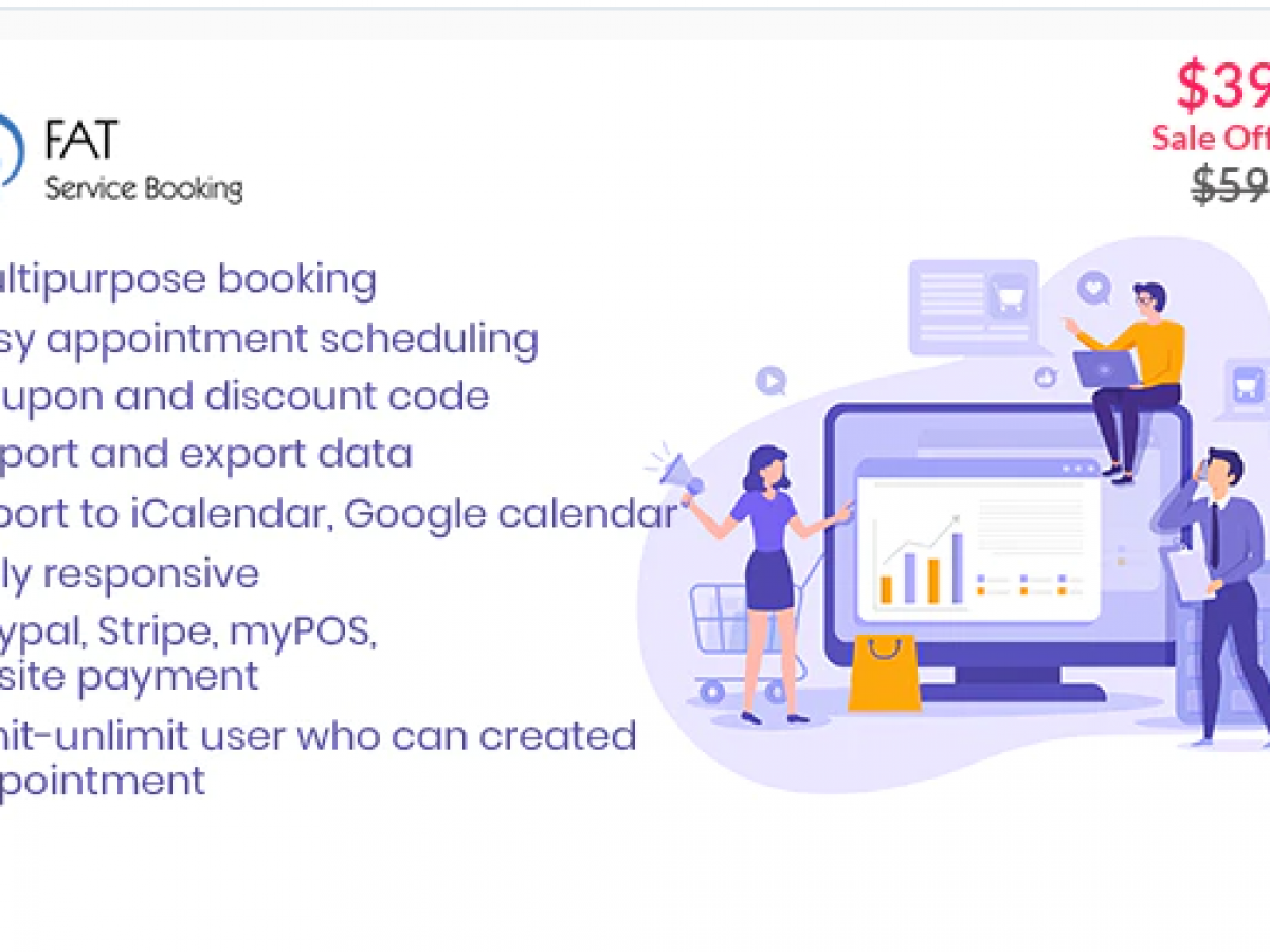 Fat Services Booking – Automated Booking and Online Scheduling Nulled v.2.6