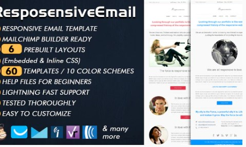 v.1.0 – ThemeForest – Responsive Email Templates for eCommerce WebSite Download