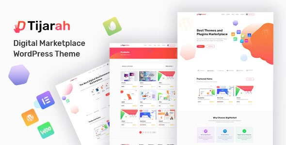 Tijarah - Digital Marketplace Woo Theme