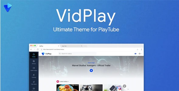 v.1.6 – VidPlay Nulled – The Ultimate PlayTube Theme Download