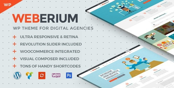 Weberium Responsive WP Theme Tailored for Digital Agencies Nulled Download