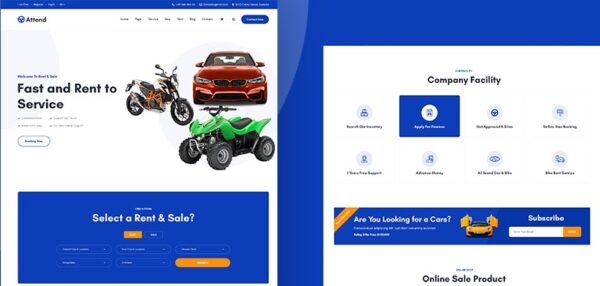 Attend-Car-PSD-Template-Nulled-Download