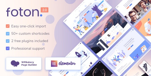 Foton - Software and App Landing Page Theme Nulled