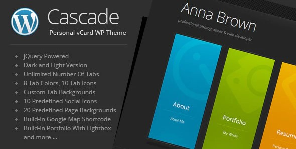 Cascade-Personal-vCard-WordPress-Theme-Nulled-Free-Download