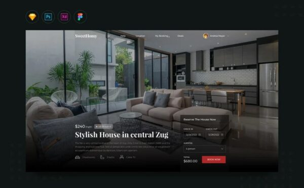 Daily V13 House Rental Booking Website Landing UI Elements Template Monster 109498 Nulled Download