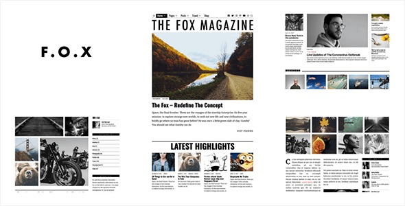 The-Fox-Minimal-Blog-Magazine-Theme-For-Creators-Nulled-Download