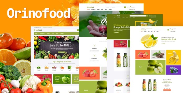 Orinofood - Organic Opencart Theme Elements (Included Color Swatches) Free Download