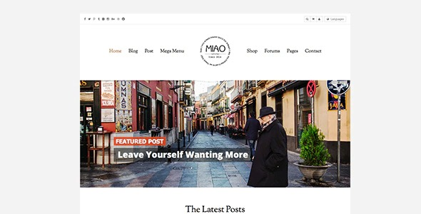 miao-clean-blog-shop-wordpress-theme-Nulled-Download