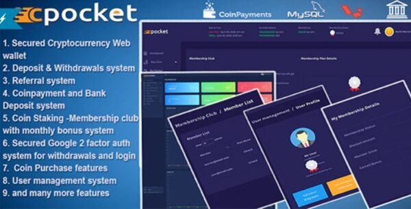 Cpocket-Nulled-cryptocurrency-wallet-script-Download