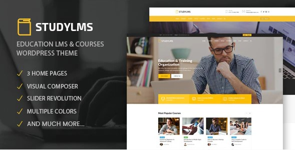 Studylms-Education-LMS-Courses-WordPress-Theme-Nulled-Download