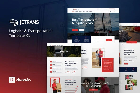 Jetrans-Logistics&Transportation-Elementor-Template-Kit-Nulled-Download