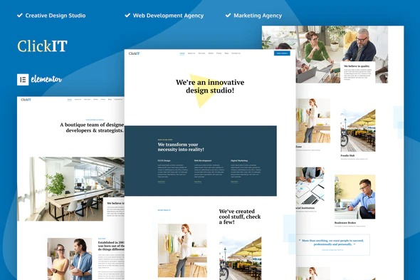ClickIT-Creative-Digital-Agency-Elementor-Template-Kit-Nulled-Download