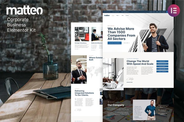 Matteo-Corporate-Business-Elementor-Template-Kit-Nulled-Download