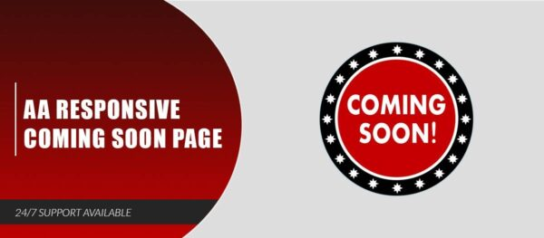 AA Responsive Coming Soon Page Nulled Download