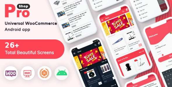 ProShop WooCommerce Multipurpose E-commerce Android Nulled Download
