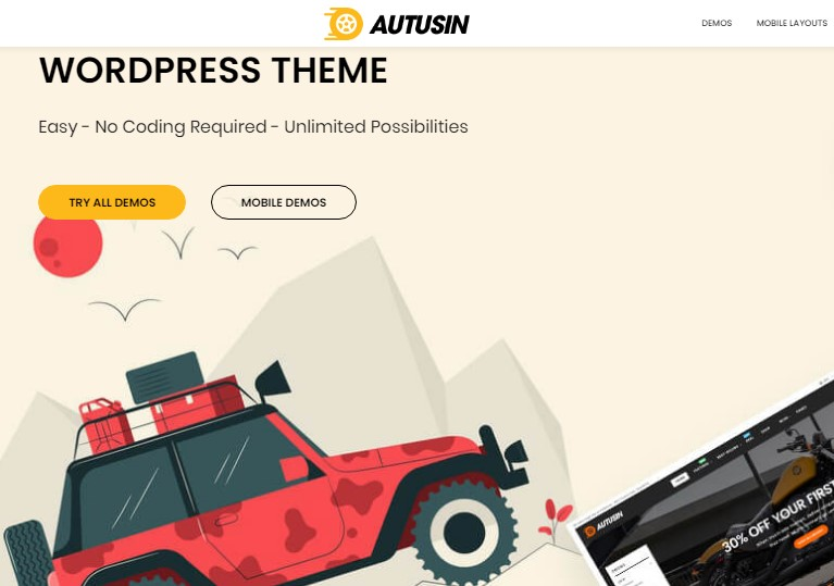Autusin - Auto Parts & Car Accessories Shop Elementor WooCommerce WordPress Theme Nulled