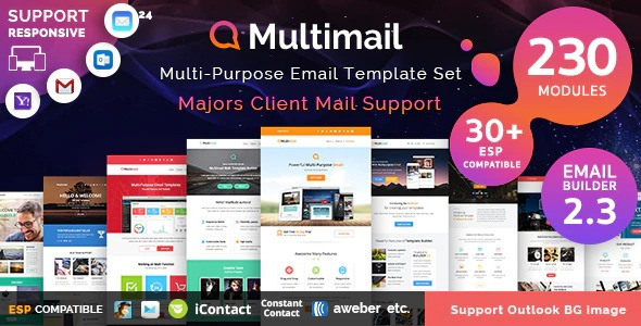 Multimail Responsive Mailchimp Email Template Set Nulled