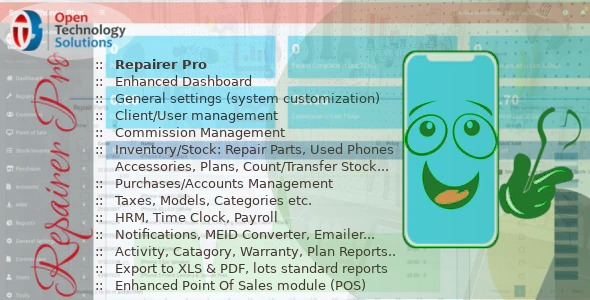 Repairer Pro - Repairs, HRM, CRM & much more Nulled Download